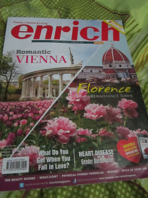 Cover of Feb. issue of Enrich Magazine