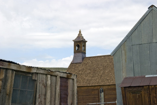The Bodie Church where Deacon Dressler, Stubs, Cork and their new friend worshipped on Sundays