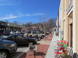 Main Street in Flowery Branch, GA