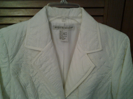 Photo Shows Designer's Name of Spring Blazer / Jacket - Sold on eBay!