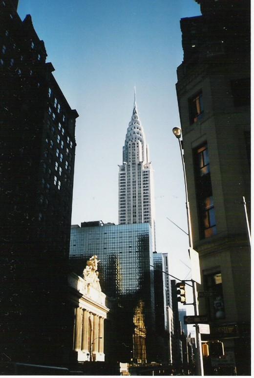 The Chrysler Building above Grand Central Station.