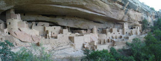 Cliff Palace: dwellings at Mesa Verde National Park, a UNESCO World Heritage Site in Colorado.