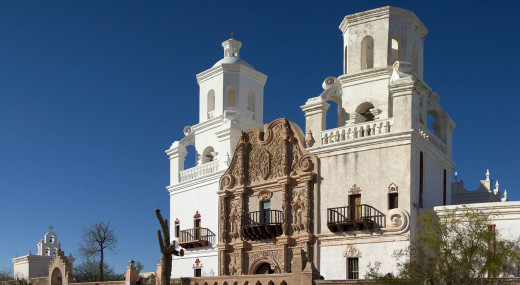 Tuscon, Arizona's San Xavier Mission is one of museums exemplifying Spanish religious colonization in the Southwest.