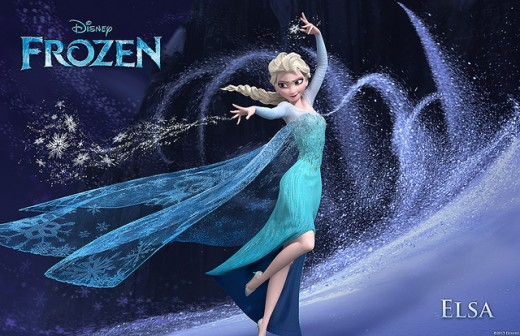"""Frozen"" character Elsa, at her height of icy coldness!"