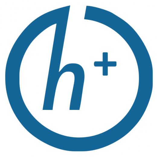The h+ symbol associated with the transhuman movement this version was created by Antonu
