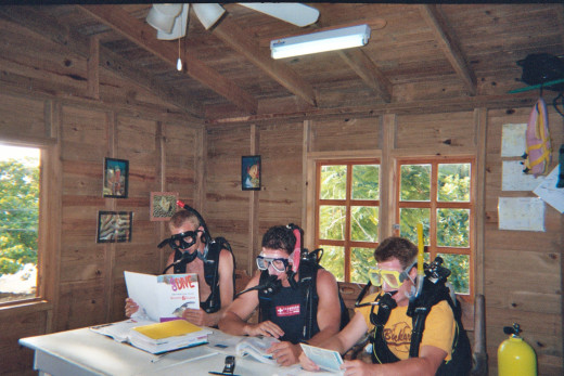 In a place where the scuba is good? Take a class...Or don't, it's your vacation!