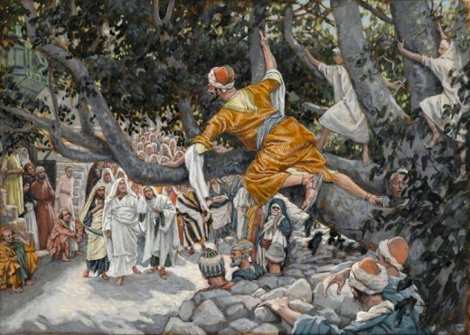 """Zacchaeus in the Sycamore Tree"" - Painting by James Tissot"