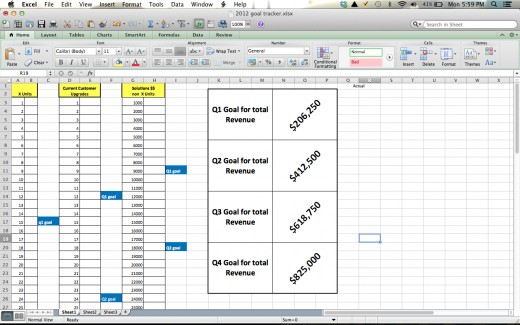 Excel is an easy way to create printable checklists to track your goals. This is an example of one that helped me.