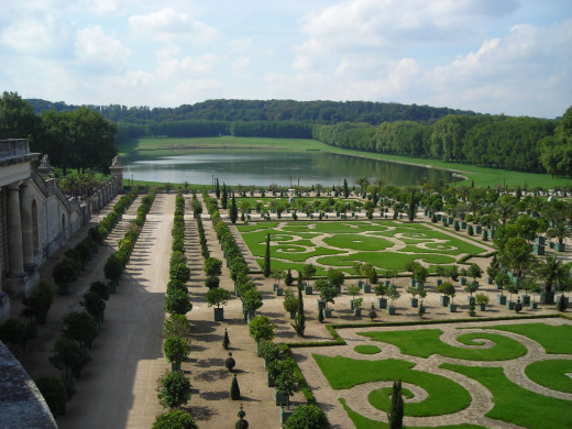 This is how I'd imagine God would create the earth. This is Versailles, France.