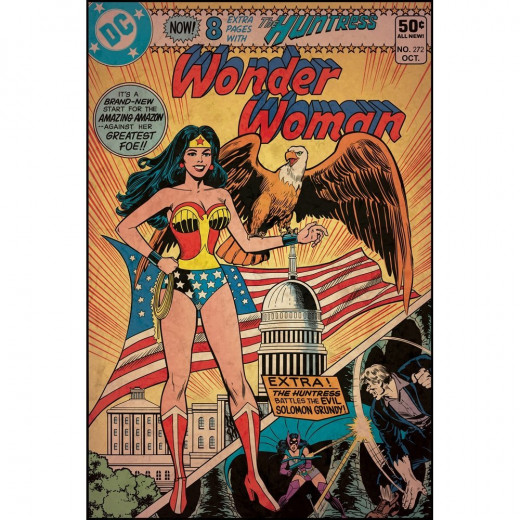 Magnificent Peel & Stick By RoomMates Comic Book Cover - Wonder Woman Comic Cover