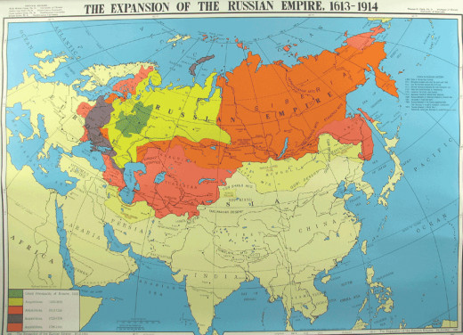 The Russian Empire in 1914.