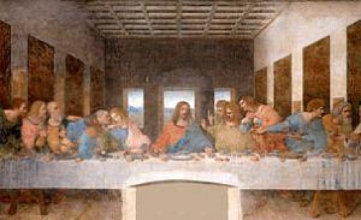 Leonardo Da Vinci's painting of the 'Last Supper', the main premise and theme for Dan Brown's book and the movie.