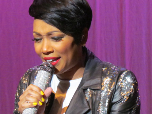 "Monica, did a powerful performance of her major hits such as, ""Love You So Much, Angel of Mine and You're Everything To Me. Toward the end of her show Monica, sang two of the late Whitney Houston's songs."