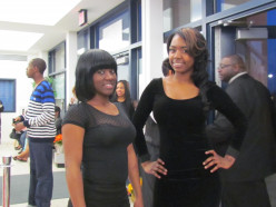 Cierra Richardson and Shantelle served as hostesses during the red carpet presentation at the show.