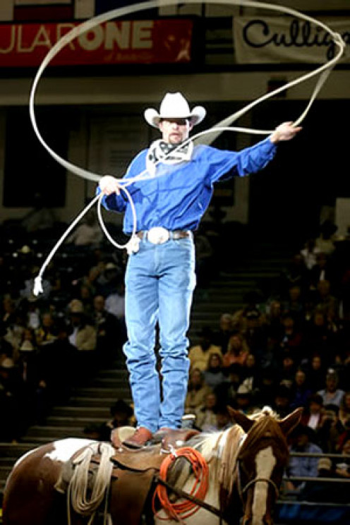 Bruce Champman rodeo rope tricks