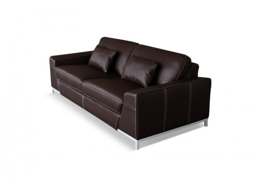 A Transitional Style Leather Sofa