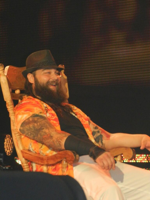 Bray Wyatt sitting in his rocking chair