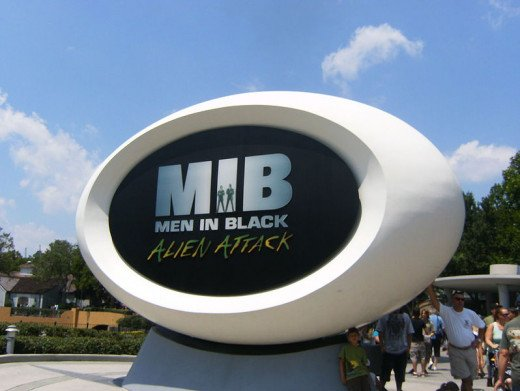 The Men In Black ride is very cool!