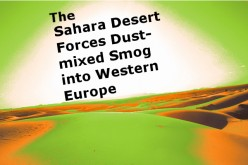 The Sahara Desert Forces Dust-mixed Smog over London, England