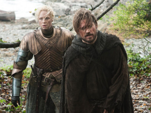 Brienne (Gwendoline Christie) and Jamie Lannister (Nikolaj Coster-Waldau)