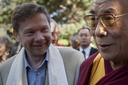 Eckhart Tolle with the Dalai Lama.