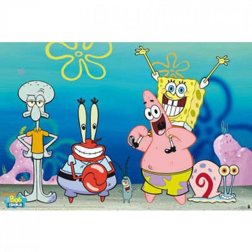 (24x36) Sponge Bob - Group Poster by Poster Revolution