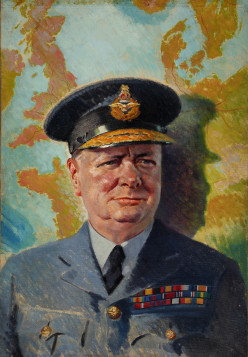 One of the greatest people in history, Winston Churchill.