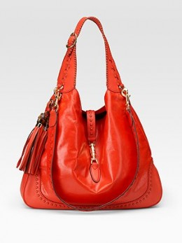 Gucci New Jackie Large Leather Hobo