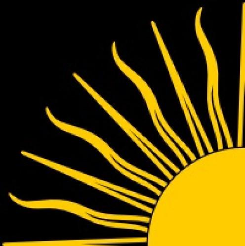 A sun symbol.