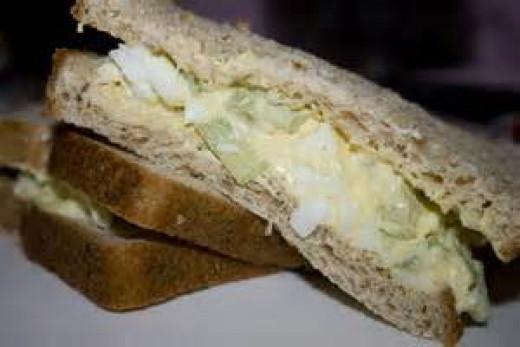 Egg Salad Sandwich on Wheat Bread