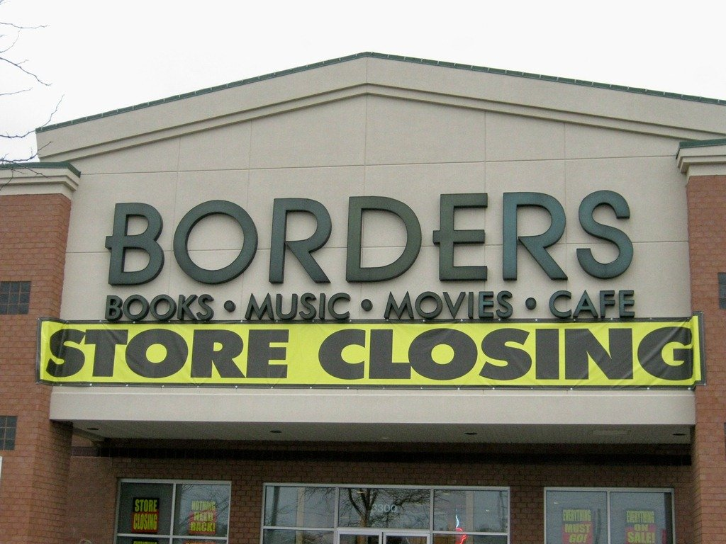 This is a closing Borders bookstore