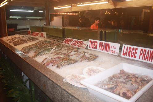 Sea Food Spread in a Fish Shack