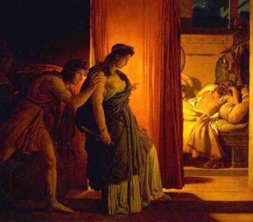 Clytemnestra and Aegisthus Murdering Agamemnon