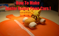 Peep Bunny Racecar Dessert Cake Recipe for Easter : Fun for Kids