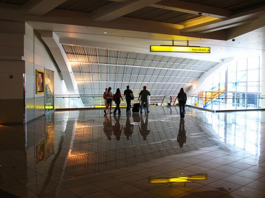 A section of the BWI airport