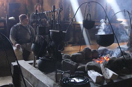 Skilled blacksmith at work
