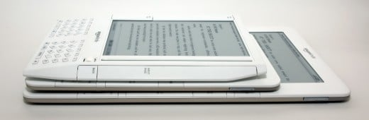 The evolution of Kindles - three generations of Kindle