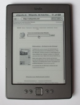 A Kindle 4, also known as Kindle Basic