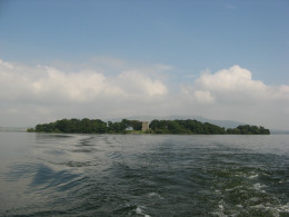 Loch Leven Castle on Loch Leven Island was thought to be a place where escape would be virtually impossible for the young Queen Mary.