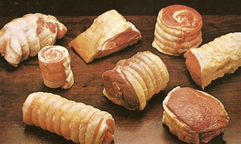 Suitable cuts for pot roasting include boned and rolled shoulder of lamb, breast of lamb, fresh brisket of beef, breast of veal, forequarter joint of pork, rolled chuck steak, fresh silverside of beef, and topside of beef in one piece.