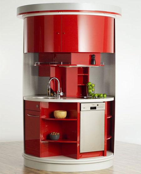 Revolving Circular Compact Kitchen