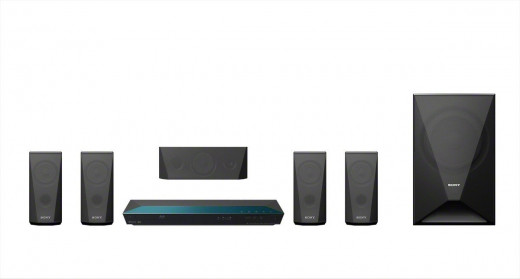Sony 5.1 Channel Home Theater System(with 3D Blu-ray Disc and Built in WiFi, Model no. BDV-E3100)