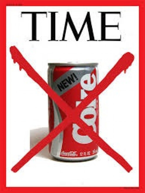 As this Time Magazine cover illustrates New Coke was a complete waste of time.