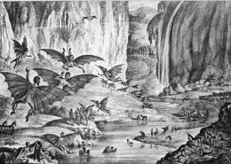 Discovery of Fire using Bipedal Beavers on Mars in 1835