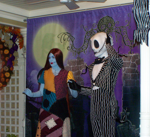 "None other than the ""Pumpkin King"" himself, star of the famous ""Nightmare Before Christmas,"" Jack Skellington! He was accompanied by the lovely Sally."