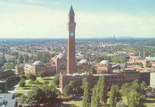 Clock Tower in the Centre of Birmingham University