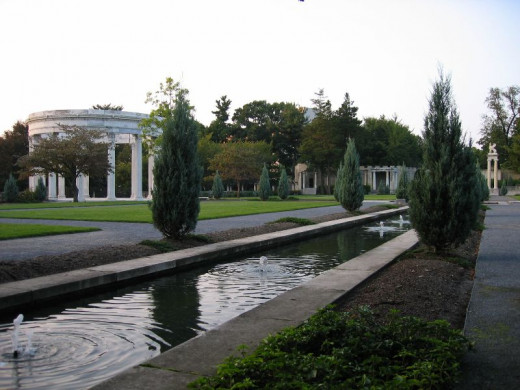"Untermyer Gardens overlooking the Hudson River in Yonkers was hailed in the 1920s as ""America's most spectacular gardens."" Before the city's restoration efforts the site was so rundown that ""Son of Sam"" allegedly used the site for devil worshiping."