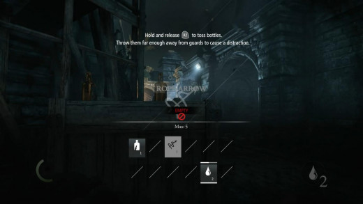 There's various different arrows that can be purchased throughout the game. Several kill/incapacitate guards whilst others enable you to interact with the environment.