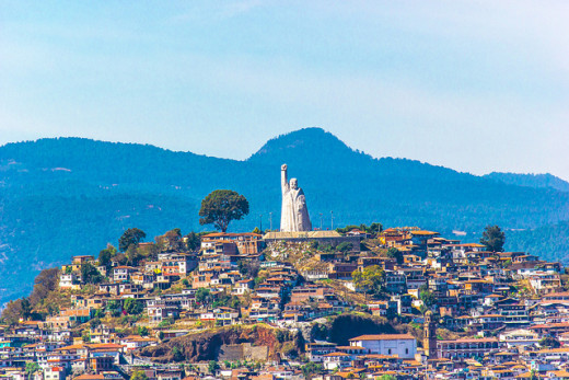 Photo of the beautiful hillside of Michoacan.