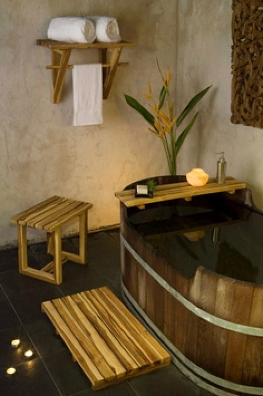 A Japanese bathroom in modern days